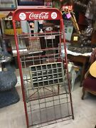 Rare 1940 Coca Cola Bottle Crate, Six Pack Display Stand Rack. Ex Cond