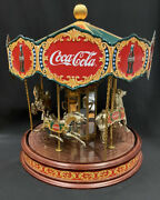 The Collector's Edition Coca-cola Musical Carousel Vintage Merry-go-round 1997