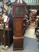 Rare Antique Samuel Barnes 1776-1808 Tall Clock Made In England Working Cond.
