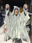 Super Rare Huge Wood Carving Witch Of The Woods German Fairytale. Wow