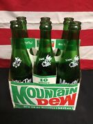 Vintage Mountain Dew Six Pack Of Bottles With Original Carton Willy The Hilbilly