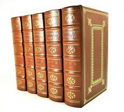 Rare Deluxe Ltd Ed Plutarchand039s Lives Of The Noble Greeks And Romans 5-vols Easton