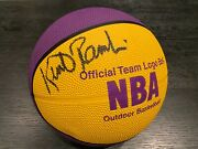 Kurt Rambis Signed Lakers Official Team Basketball