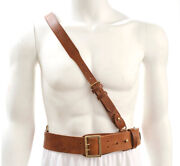 Sam Browne Belt With Shoulder Strap Brown Leather Ww1 Will Fit 38- 42