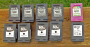 Lot Of 10 - Empty Genuine Hp60 And Hp60xl Ink Cartridges