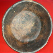 Antique 18th C Early American Wood Burl Bowl Country Kitchen Primitive Hand Done