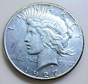 1927-p Silver Peace Dollar-low Mintage-high Grade