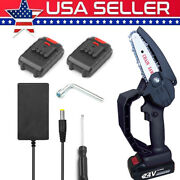 Mini Electric Chainsaw 4 Inch Cordless Chainsaw With 2 Rechargeable Battery Q5v2