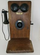Vintage Western Electric Hand Crank Wall Phone 317- Working Bells Extra Magnetos