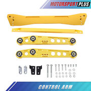 Set Gold Rear Lower Control Arm Tie Bar Subframe Bar For 1994-2001 Acura Integra