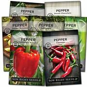Sow Right Seeds - Pepper Seed Collection For Planting - Packets Of Banana Cho...