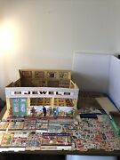 Jewel Play Grocery Store Cardboard 1950and039s Life Like Kids Come A Running Used