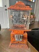 Rare Vintage Goodies Candy And Nut Dispenser Patent Red Metal No 4-004-719