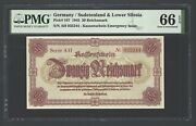 Germany- Sudetenland Lower Silesia 2 Reichmark 1945 P187 Uncirculated Grade 66
