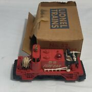 Lionel Postwar No. 52 Fire Fighting Car With Box