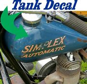 Simplex Servi Cycle Simplex Automatic Decals One For Each Side