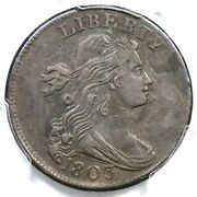 1803 S-244 R-4 Pcgs Xf 40 Sm Date Sm Frac Draped Bust Large Cent Coin 1c