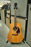 Willie Nelson Signed Epiphone 150 Pa - Authentic Photos And Original Lp Included