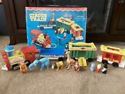 Vintage Fisher Price Circus Train 100 Complete W/ Box