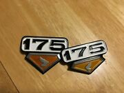 1974 Honda Cl175 Motorcycle Side Cover Badges Emblems Logo Air Cover Air Cleaner