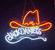 17 Jack Daniels Cowboy Hat Neon Signs Beer Bar Cub Real Glass Shipping In Us