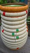 Clarice Cliff Rare Raffia Vase Hand Painted 1935 Lovely Condition