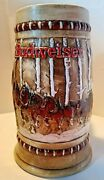 Budweiser Holiday Steins Collectible Holiday Stein Series Year 1981