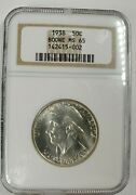 1938 Us Boone 50 Cents Ngc Ms 65