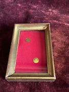 Rare Vintage 8k Lot Solid Gold Coins Wood Frame Miniature Gold Coins Popes