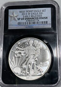 2013-w Enhanced Finish Silver American Eagle - Ngc Sp69 Early Releases 174