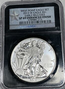 2013-w Enhanced Finish Silver American Eagle - Ngc Sp69 Early Releases 213