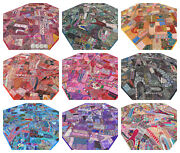 Patchwork Quilt King Bed Cover Handmade India Bedspread Boho Indian Embroidery O