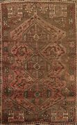 Antique Traditional Geometric Oriental Area Rug Wool Hand-knotted Carpet 5x8 Ft