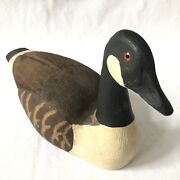 Vtg Goose Creek Trading Company Wood Swan Duck Decoy Made In Usa