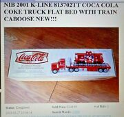 K-line Flatbed Toy Truck W/ Train Caboose - Coke Coca Cola By Taylor Trucks