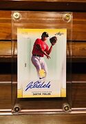 2017 Leaf Perfect Game Justin Fields Yellow Parallel 5/25 Chicago Bears Qb Nfl