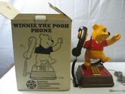 Vintage Disney Winnie The Pooh Push Button Telephone Working Boxed