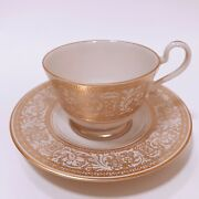 Franciscan Pottery Gold Renaissance Masterpiece China 4 New Cup/saucers