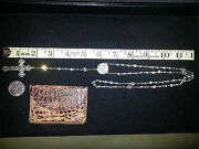 Vintage Sterling Silver Catholicfour Way Rosary With Inri Crucifix