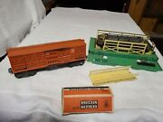 Lionel 3656 Cattle Car Corral, Cows In Ob Ramp