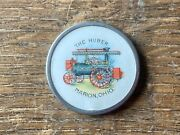 1 1/4andrdquo Huber Steam Engine Advertising Celluloid Pinback Tractor Plow Implement