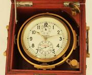 Russian Vintage Gimballed Marine Ships 56hr Chronometer Serviced Gwo