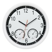30xquartz Stone Clock Silent Wall Clock Accurate Thermometer Humidity Indoor