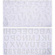 30xresin Casting Mold 2 Pack Letter Number Silicone Molds Clear Jewelry Making