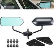 30x2pcs Car Racing Universal Side Rear View Mirror Wide Angle Metal Bracket For
