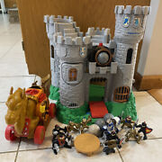 Vintage Fisher Price Great Adventure Castle W Lots Of Figures And Accessories