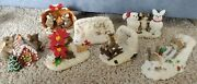 Charming Tails Lot Of 7 Snow Holiday Christmas Home Sweet Home Cozy Holiday Cute