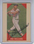 1960 Fleer 72 Ted Williams Authentic Autograph / Signed Baseball Card 1/1 Jsa