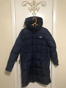 The 600 Blue Coat Long Puffer Goose Down Womenandrsquos Large - Preowned