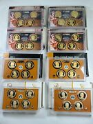 Lot Of 8 Presidential Dollar 4-coin Proof Sets 2007-2014 W/boxes+coas 32 Coins